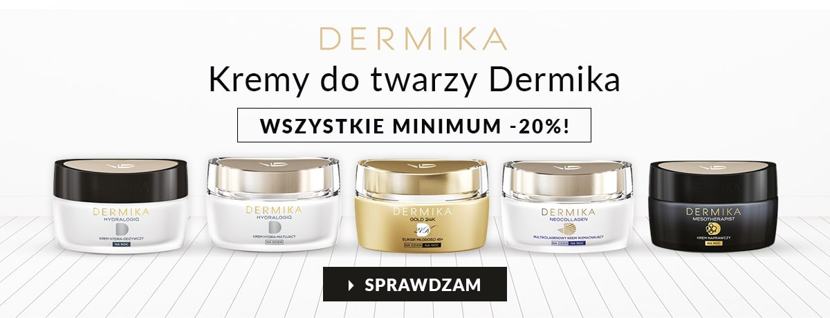 Kremy do twarzy Dermika z rabatem minimum -20%!
