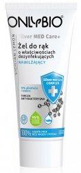 OnlyBio Silver Med Care+, żel o właściwościach dezynfekujących i nawilżających, 70% alkoholu, 50ml