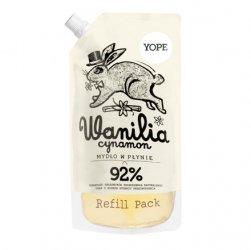 Yope Mydło w płynie, Wanilia i Cynamon, Refill Pack, 500ml