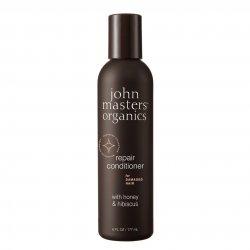 John Masters Organics, odżywka do włosów zniszczonych, Miód i Hibiskus, 177ml
