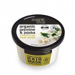 Organic Shop, naturalna maska ekspresowo zwiększająca objętość Jaśmin, 250ml