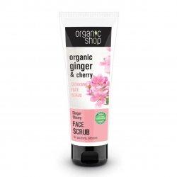 Organic Shop, oczyszczający peeling do twarzy Imbir&Wiśnia, 75ml