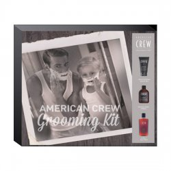 American Crew Grooming Kit, zestaw: krem do golenia 150ml + tonik po goleniu 150ml + szampon 3w1 Tea Tree 100ml