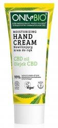 OnlyBio, krem do rąk nawilżający z olejkiem CBD, 75ml