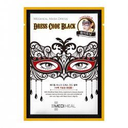 Mediheal Mask Dress Code Black, maska karnawałowa wygładzająco-nawilżająca, 27ml
