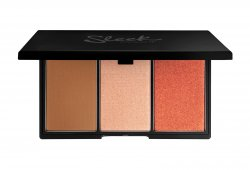 Sleek Makeup Face Form, paleta do konturowania 3 w 1 bronzer+róż+rozświetlacz, Light