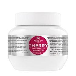 Kallos KJMN Cherry, wiśniowa maska do włosów nawilżająca, 275ml