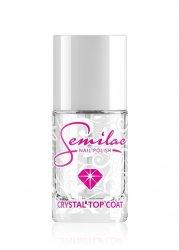 Semilac, Crystal Top Coat, top coat nabłyszczający, 12ml