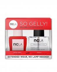 NCLA So Gelly!, zestaw lakier+top do paznokci, Call My Agent, 2x15ml