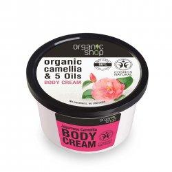 Organic Shop, naturalny zmiękczający krem do ciała Kamelia, 250ml