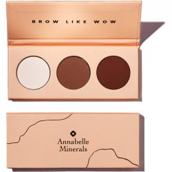 Annabelle Minerals, paleta cieni do brwi Brow Like Wow, 3x1.3g