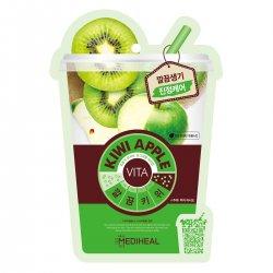 Mediheal Kiwi Apple Vita Mask, maska wygładzająco-odświeżająca z kiwi i jabłkiem, 20ml