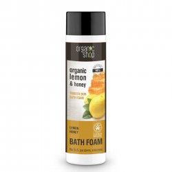 Organic Shop, naturalny wygładzający płyn do kąpieli Cytryna&Miód, 280ml