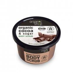 Organic Shop, naturalny ujędrniający peeling do ciała Belgijska Czekolada, 250ml