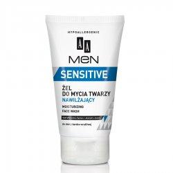 AA Men Sensitive, żel do mycia twarzy nawilżający do skóry bardzo wrażliwej 150 ml