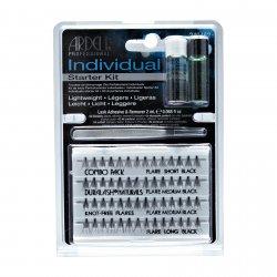 Ardell Individual, Duralash Starter Kit Combo Black, zestaw startowy, klej+rozpuszczalnik+pęseta+rzęsy