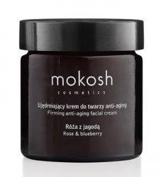 Mokosh, ujędrniający krem do twarzy anti-aging, róża z jagodą, 60ml