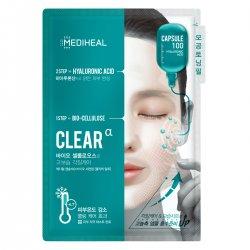 Mediheal Capsule100 Bio SeconDerm Clear α, maska 2-etapowa nawilżająca, 23ml+4ml