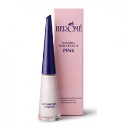 Herome Natural Nail Colour Pink, naturalny lakier do paznokci, odcień różowy, 10ml