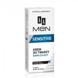 AA Men Sensitive, krem do twarzy nawilżający do skóry bardzo wrażliwej 50 ml