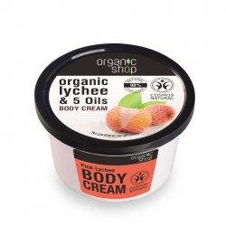 Organic Shop, naturalny odżywczy krem do ciała Różowe Liczi, 250ml