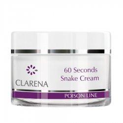 Clarena Poison Line, 60 seconds Snake Cream, liftingujacy i przeciwzmarszczkowy krem z jadem węża, 50ml