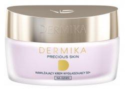 Dermika Precious Skin, nawilżający krem wygładzający na dzień 50+, SPF20, 50ml