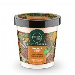 Organic Shop, naturalny odżywczy mus do ciała Migdały&Miód, 450ml