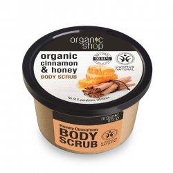 Organic Shop, naturalny kojący peeling do ciała Miód&Cynamon, 250ml
