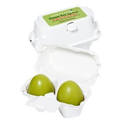 Holika Holika Green Tea Egg Soap, mydełko do twarzy, 2x50g