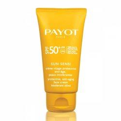 Payot Sun Sensi, przeciwstarzeniowy ochronny krem do twarzy z filtrami SPF50, 50ml