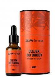 ZEW for Men, olejek do brody z olejem konopnym + pipeta, matowy, 30ml