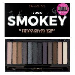 Makeup Revolution, paleta cieni do powiek, Iconic Smokey