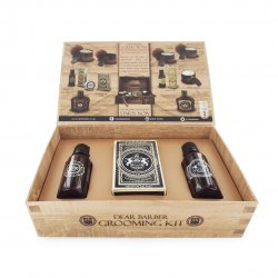 Dear Barber II Groom&Go Collection, zestaw: olejek do brody 30ml, wosk do wąsów 25ml, woda toaletowa 30ml
