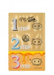 Holika Holika Pig Clear 3-step, maseczka do oczyszczania nosa, Honey Gold
