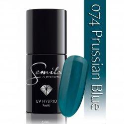 Semilac lakier hybrydowy 074 Prussian Blue, 7ml
