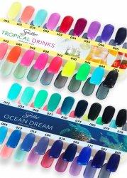 Wzornik do lakierów Semilac z kolekcji Ocean Dream i Tropical Drinks