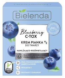 Bielenda Blueberry C-Tox, krem-pianka nawilązająco-rozświetlająca, 40g
