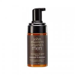 John Masters Organics, krem nawilżający i po goleniu 2w1 dla mężczyzn, 89ml