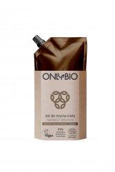 OnlyBio, żel do mycia ciała nawilżanie i odżywianie, refill pack, 500ml