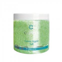 Clarena Podo Line, sól do kąpieli stóp i ciała, zielone jabłuszko, 250g