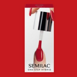 Semilac One Step Hybrid, lakier hybrydowy, 5ml, S550 Pure Red