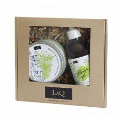 LaQ, zestaw peeling i żel - kiwi i winogrona