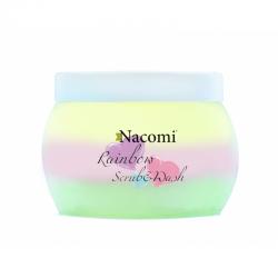 Nacomi, rainbow scrub&wash, tęczowa pianka-peeling do ciała, 200ml