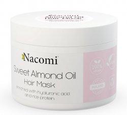 Nacomi, maska do włosów z olejem ze słodkich migdałów, kwasem hialuronowym i proteinami ryżu, 200ml