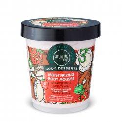 Organic Shop, nawilżający mus do ciała Truskawki&Czekolada, 450ml