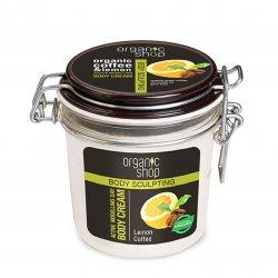 Organic Shop, aktywnie modelujący krem do ciała na dzień Lemon Coffee, 350ml