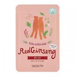 SKIN79, Fresh Garden - Red Ginseng, maska w płacie z czerwonym żeń-szeniem, 23g
