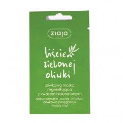 Ziaja Liście Zielonej Oliwki, maska do twarzy regenerująca, 7ml