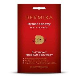 Dermika, 3-stopniowy program odżywczy, rytuał odnowy - moc 7 olejków, 3x2ml